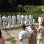 Второе водное крещение церкви г. Хмельник